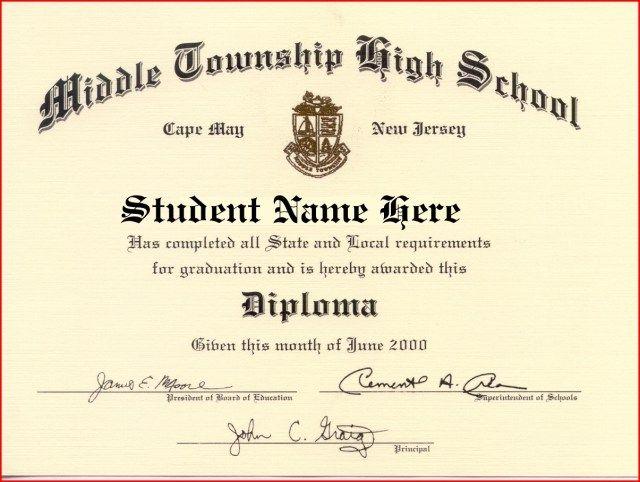 37 High School Diploma Template Doc Graduation Certificate