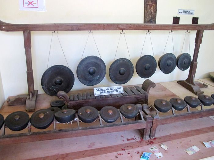 Blast from the Past: A set of Gamelan Degung from 1426 is one of the old relics you can see in Kasepuhan palace's Museum of Antiquities. (Photo by Iman Mahditama)