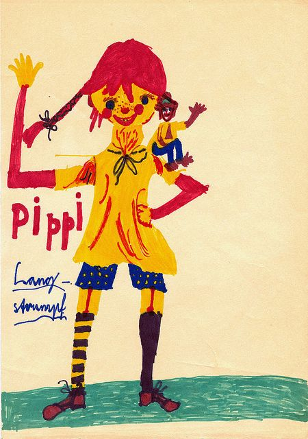 Pippi Langstrumpf by Paint has come off, via Flickr