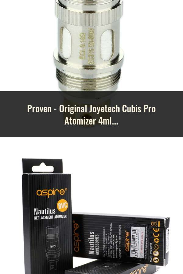 Original Joyetech Cubis Pro Atomizer 4ml With Cubis Notch Coil Lvc
