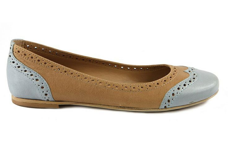 Elena Shoes Made In Italy - Spring Summer Collection - Collezione Primavera Estate - Ballerina bicolore - Light blue - Azzurro - Denim - Jeans - Leather shoes - Scarpe in pelle - Fashion - Glamour - SS14 - PE14
