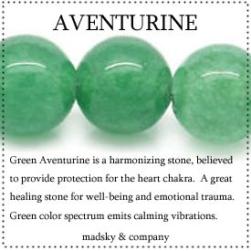 "Aventurine resonates with the heart chakra - a kind of ""rescue remedy"" in crystal form"