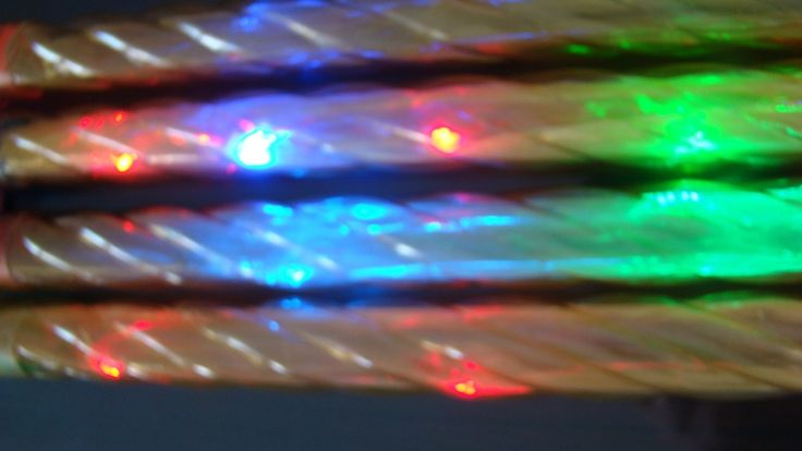 kit com 10 bastões luminosos para festas em acrílico 40 cm