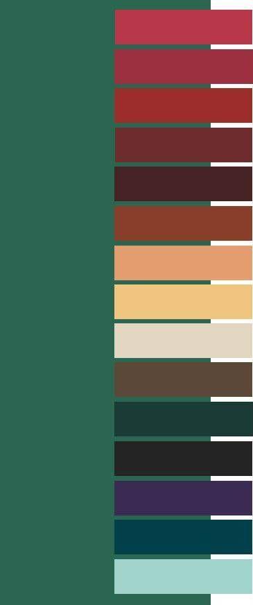Emerald color palette for Dark Autumm