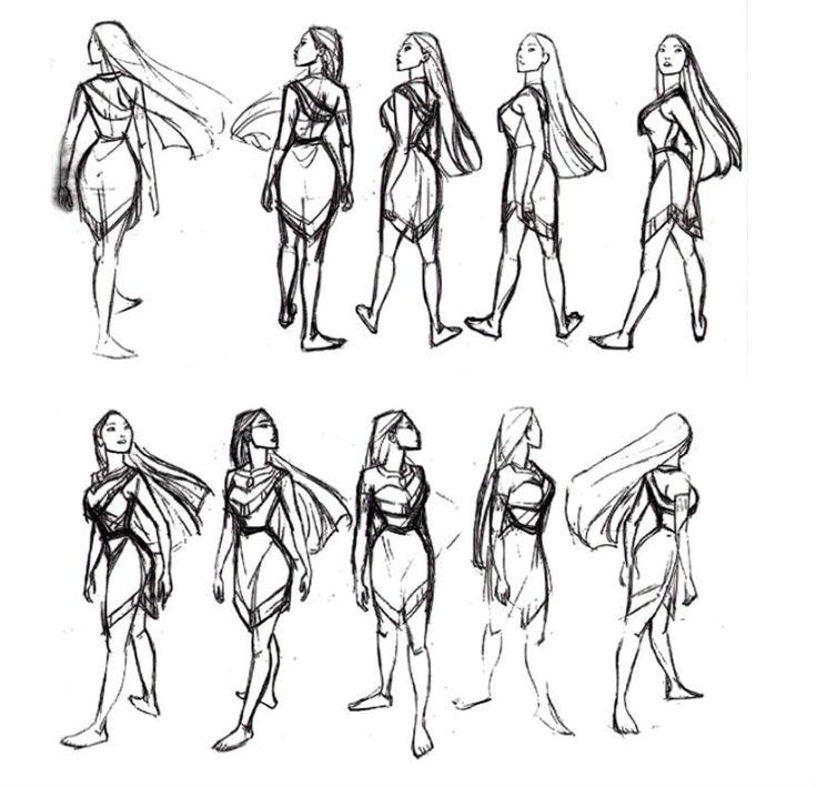 Pocahontas turnaround sheet by Glen Keane ★ || Art of Walt Disney Animation…