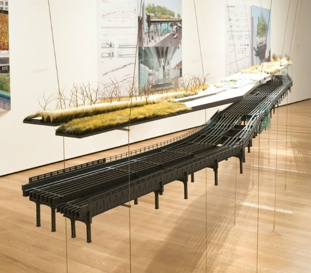 James Corner Field Operations- HighLine, architectural model