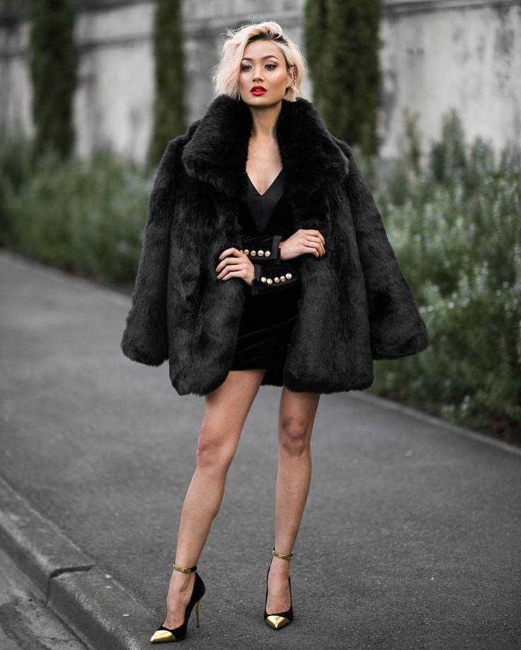 "micahgianneli: "" Cruella de Vil vibes ♠️ Faux fur coat & dress by @hausofsong #HausOfSong """