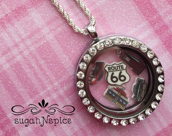 Route 66 Floating Locket  Route 66 Floating Charms  by sugahNspice