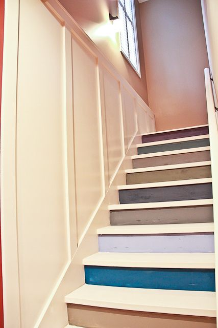 Painted Basement Stairs With Board And Batten 7 Of 26 Flickr