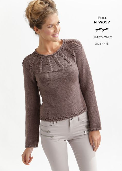 Modele Pull W037 Patron Tricot Gratuit Knitting Pinterest