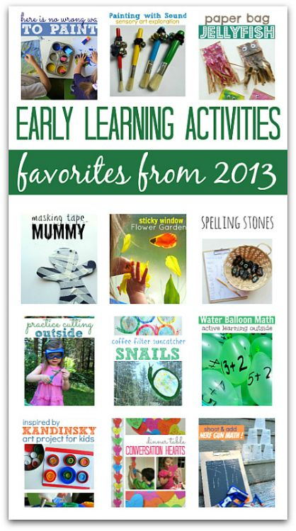18 of the BEST early learning activities for kids from 2013. You might recognize some of these photos and activities. Some were huge Pinterest hits while others just my personal favorites.