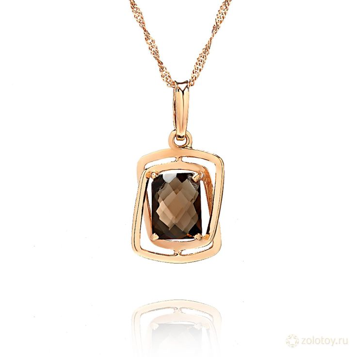 золотой кулон с камнем фото элемент