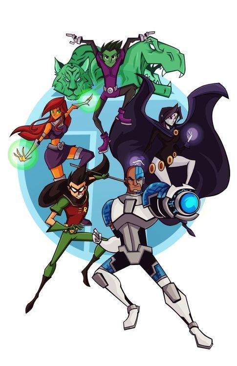 T-E-E-N-T-I-T-A-N-S, Teen Titans, Let's Go!