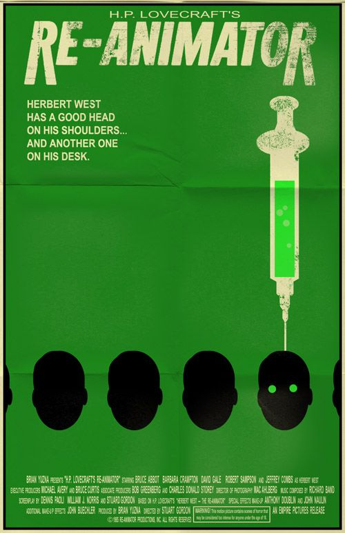 Re-Animator blends horror and humor in its tale of a medical student experimenting with bringing the dead back to life.