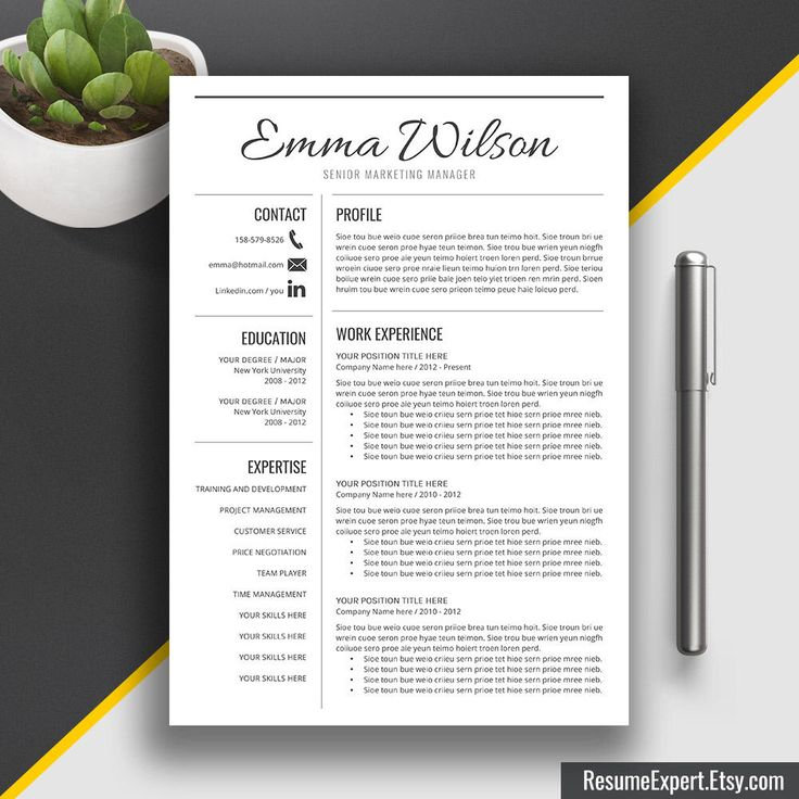 professional resume template cv template cover letter word us letter and a4