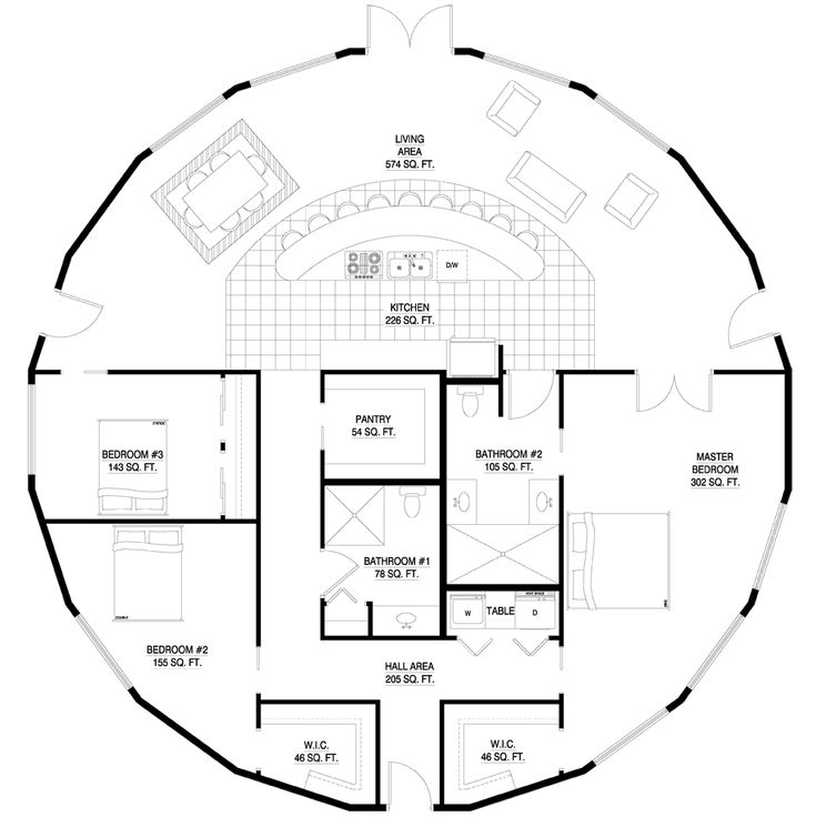 Charming Round House Plans Free Images Best Idea Home Design - Round house floor plans