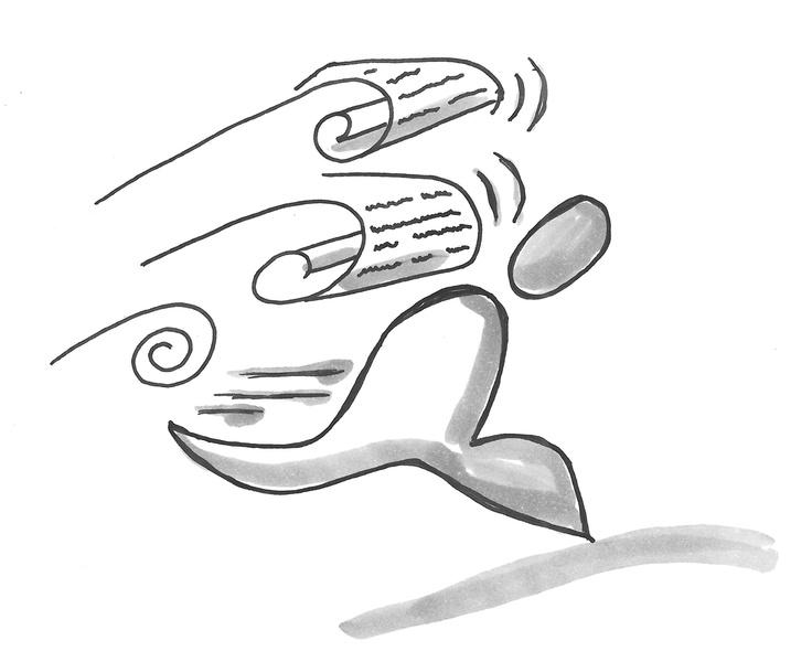 """Symbol für """"Informationsflut"""" (nach einer Vorlage der Kommunikationslotsen)"""