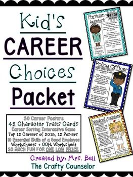 Do you have students interested in careers? Do you want to introduce careers to your students but aren't sure how?Look no further!!!! This packet has everything you need :)From a young age we tell kids they can be anything they want to be; that doesnt do any good if we dont help them discover what it is they want to be; that is very encouraging, but we need to also help them discover what they want to be.