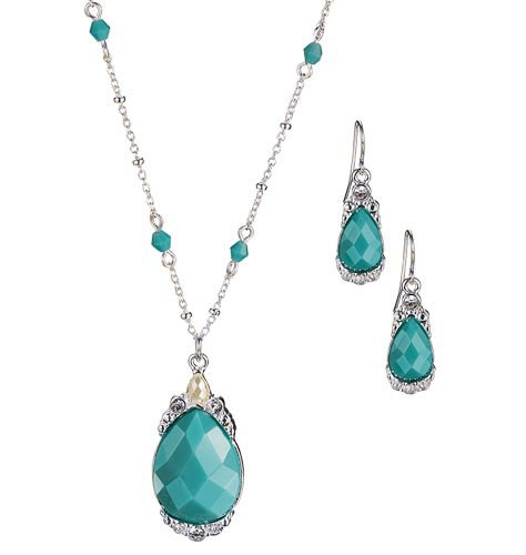 Pretty and nickle free, $9.99: Turquoise Necklaces, Avon Ladies, Avon Discontinued, Earrings Gifts, Avon Products, Earrings Sets, Gifts Sets, Luxury Faux, Faux Turquoise