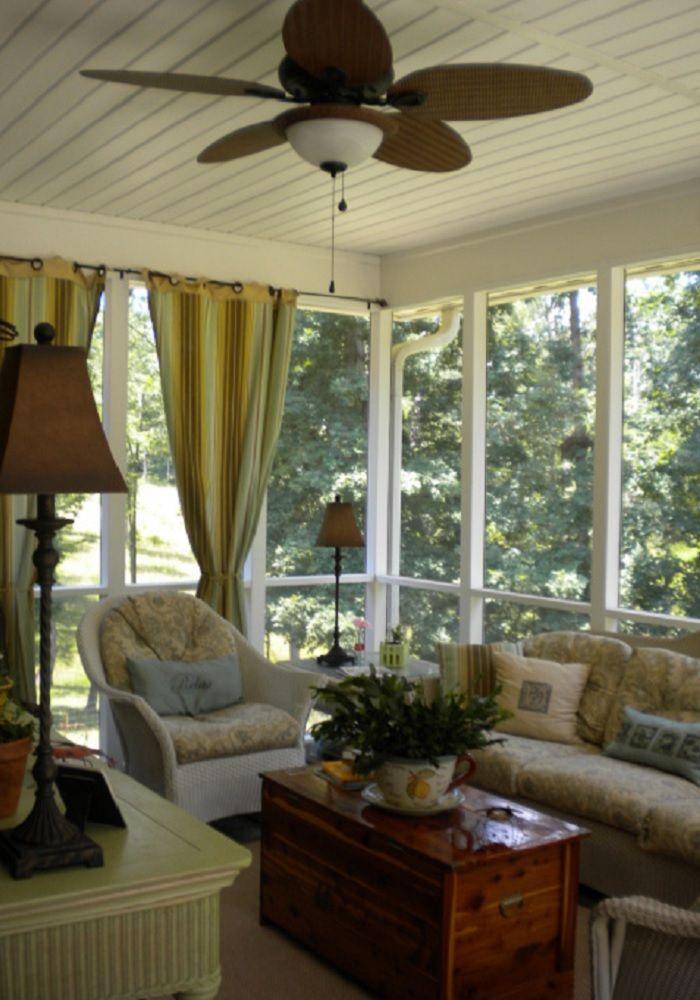 enclosed porch decorating ideas | Credit: TLC Decorating Ideas