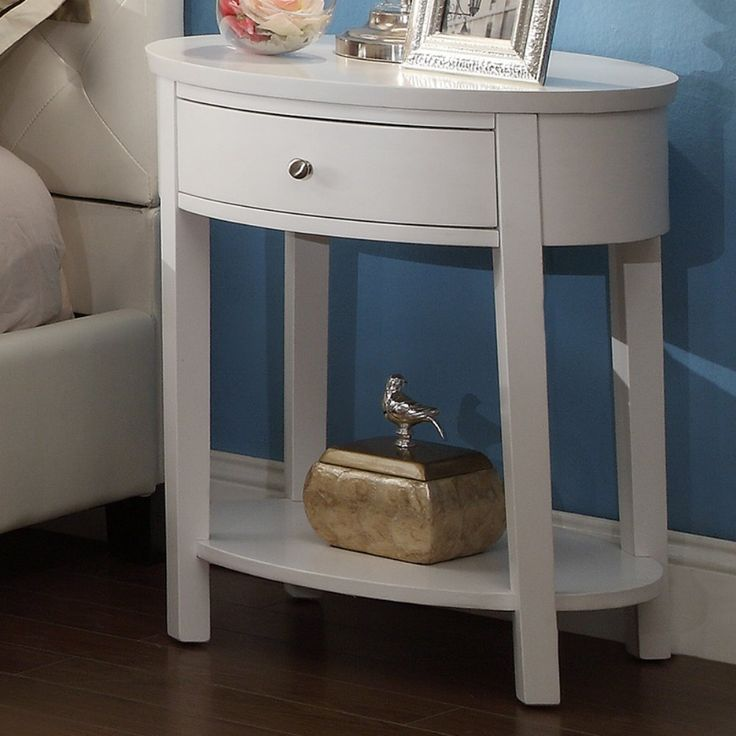 Inspire Q 1 Drawer Oval Accent Table   Ideal As A Charming Side Table Or  Nightstand