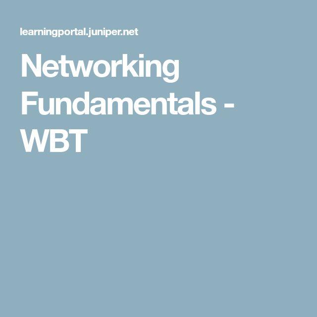 Networking fundamentals wbt network fundamentals pinterest fandeluxe Choice Image