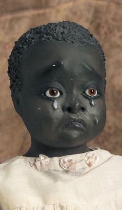 Rare American Black Folk Doll by Leo Moss
