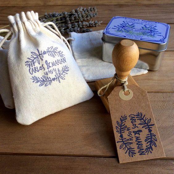 detalles de boda bolsitas de tela para arroz o lavanda: