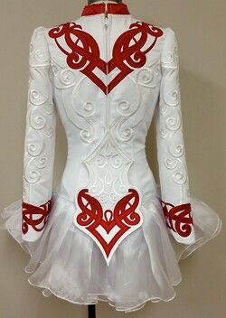 Irish Dance Solo Dress Costume by Prime Design - back -
