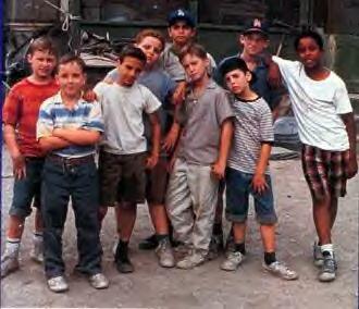"Sandlot.  . Michael ""Squints"" Palladorous  2. Benny ""The Jet"" Rodriguez  3. Hamiltons ""Ham"" Porter  4. Scotty Smalls  5. Alan ""Yeah Yeah "" Mclennan  6. Timmy Timmons  7. Kenny Denunez  8. Tommy ""Repeat"" Timmons  9. Bertram ""Grover"" Weeks"