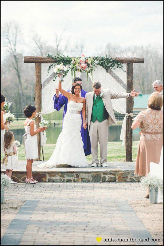 Renee Scottie Austins Wedding At Morning Glory Farm Monroe NC Photo By Smitten Hooked