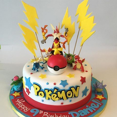 Best 25 pokemon cakes ideas on pinterest pokemon party pokemon birthday cake and birthday - Decoration gateau pokemon ...