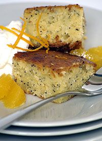 Malva Pudding with Naartjie and Poppy Seeds
