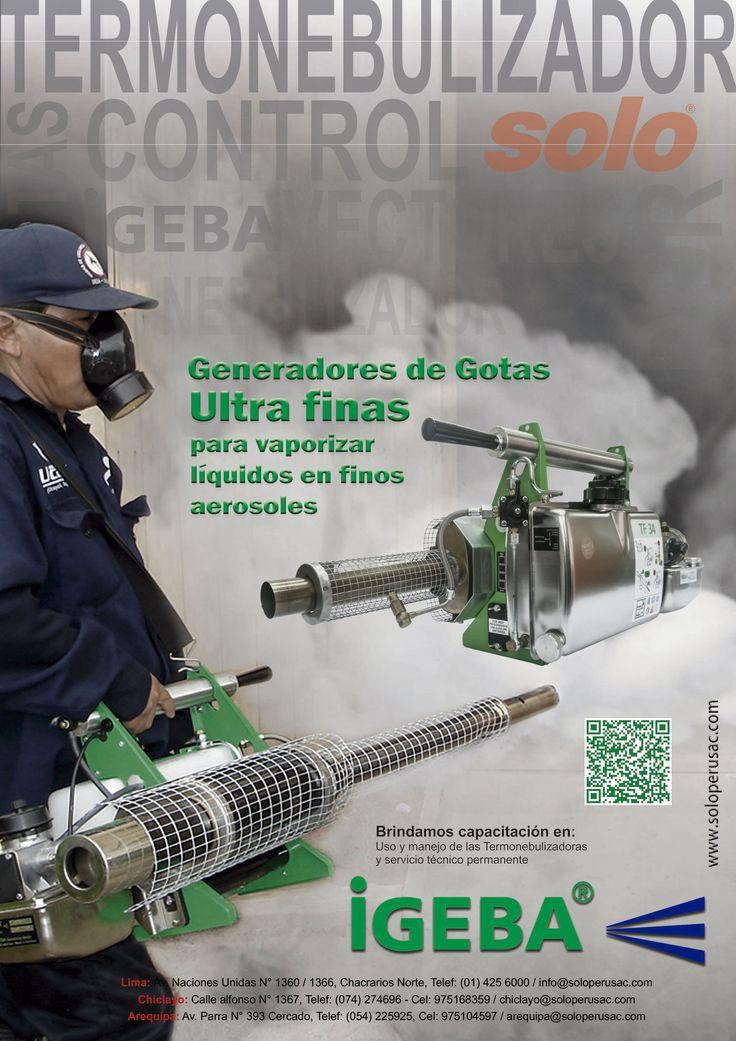 Generadores de gotas Ultra finas para un pulverizado más uniforme IGEBA