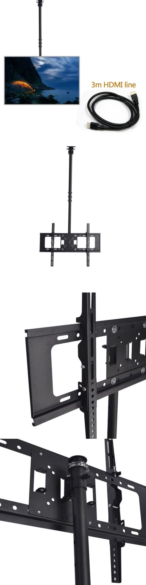 TV Mounts and Brackets: Ceiling Tilt+Swivel+Rotate Tv Mount Lcd Led 24 26 30 32 36 37 40 50 55 60 70Inch -> BUY IT NOW ONLY: $33.59 on eBay!