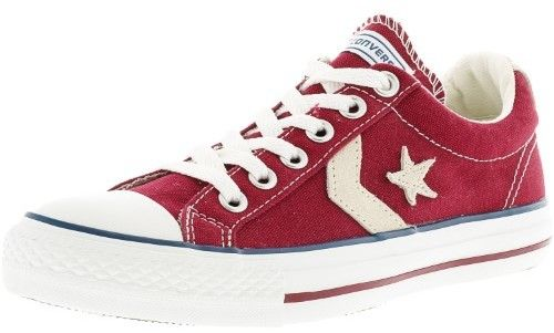Converse Star Player Ev Ox Red / White Ankle-High Canvas Fashion Sneaker - 8M 6M