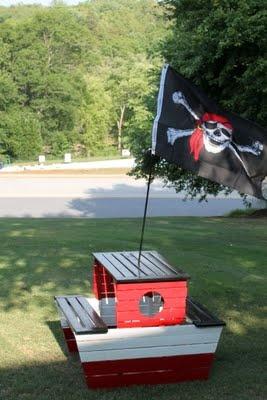 Pottery barn Pirate ship knockoff!