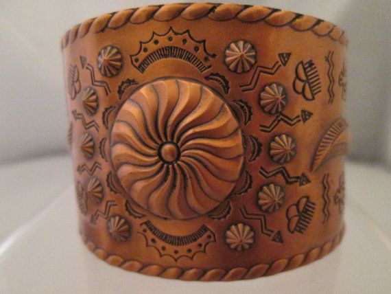 Native American Vintage Solid Copper Wide Cuff Bracelet Thunderbird Clouds Rain Southwestern Artisan Handcrafted Handmade Etched design