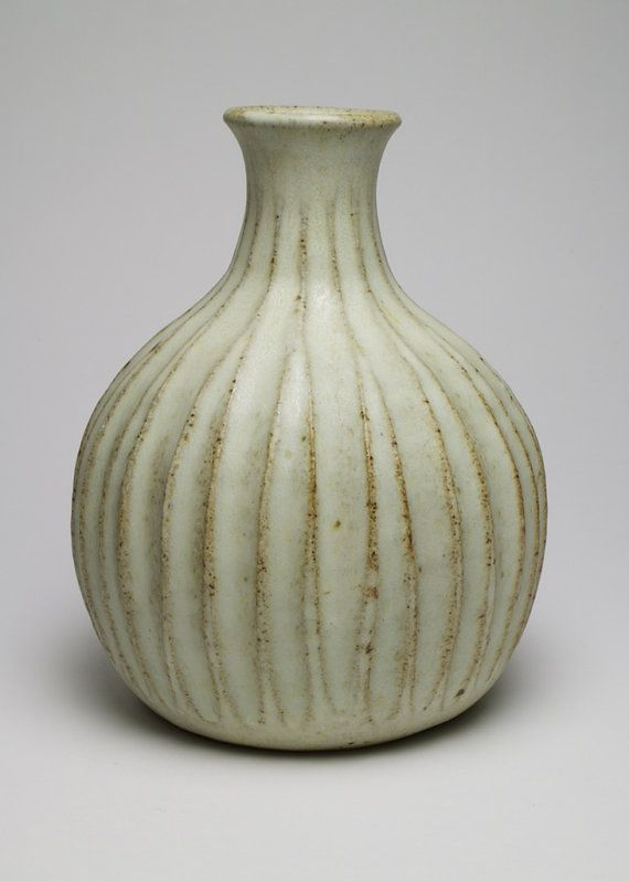 Peter Lane Studio Pottery fluted vase by SimonCurtisAntiques