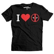 Playera I Love Deadpool Mascara De Latex Chimichangas Tacos
