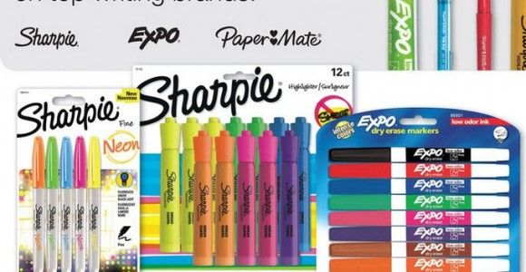 School Supply Coupon | $2 off Sharpies, Expo Markers & More!