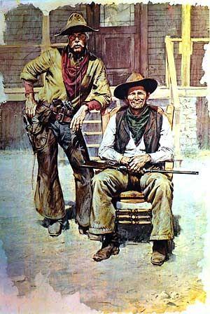 Image detail for -American Western Cowboy Art Print