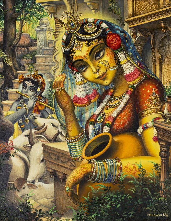 Krishna Is Here Painting by Vrindavan Das