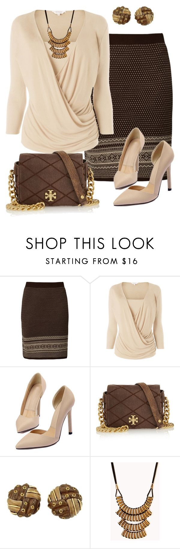 """""""Sin título #1206"""" by marisol-menahem ❤ liked on Polyvore featuring Anna Field, L.K.Bennett, Tory Burch, Trianon and Forever 21"""