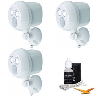 Mr Beams 300-Lumen Wireless Battery Powered LED Ultra Bright Spotlight 3-Pack (White) $70.99
