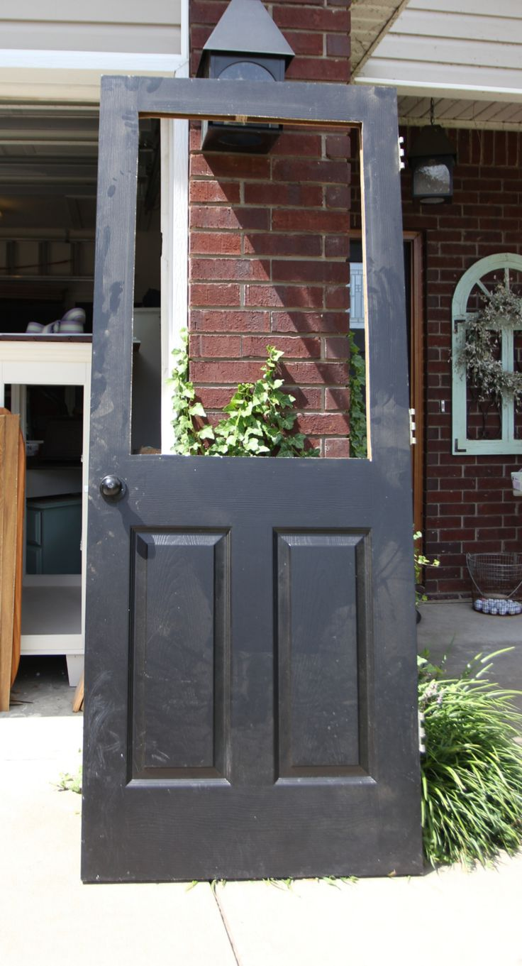 How to install a window in an interior door! Glass barn