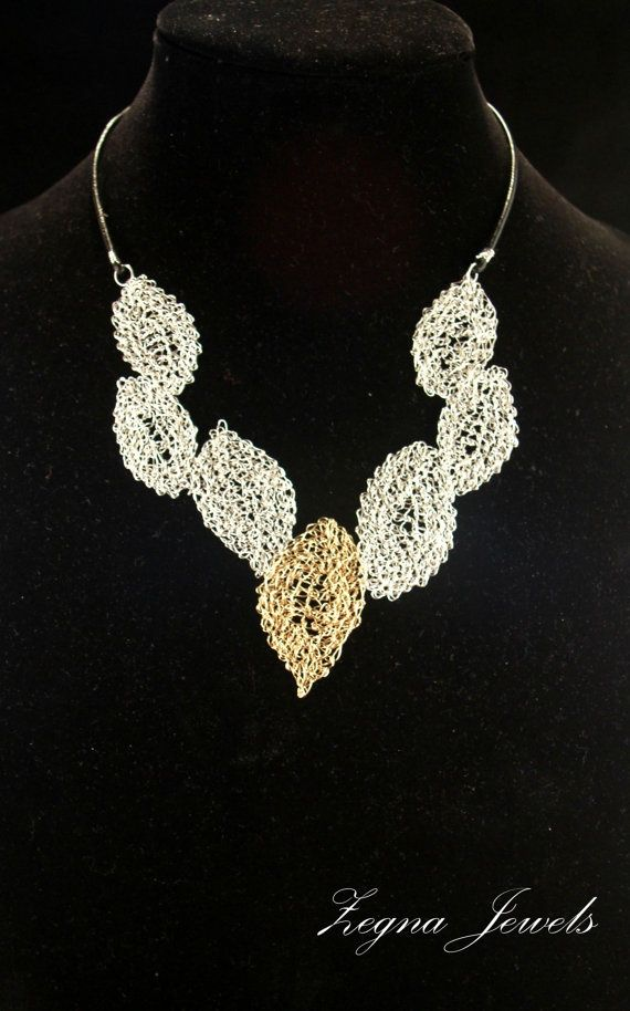 images of wire crochet jewelry | ... wire crocheted statement necklace and ... | My wire crochet je