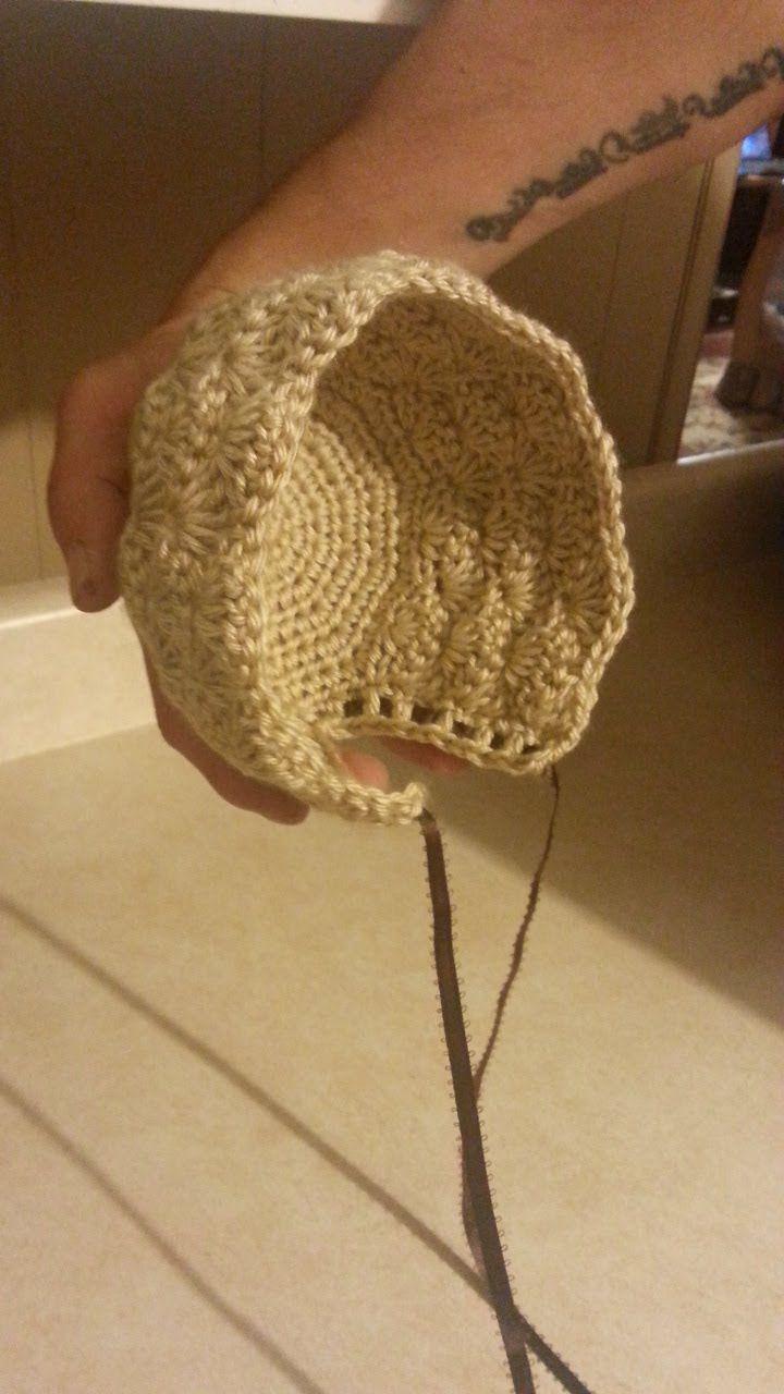#Crochet Newborn Baby Bonnet #TUTORIAL Adorable baby Crochet DIY crochet bonnet