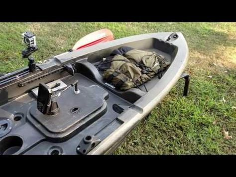 My 2015 Ascend Kayak Modifications Milk Crate Bait Board LED Lights Transducer Mounts And More