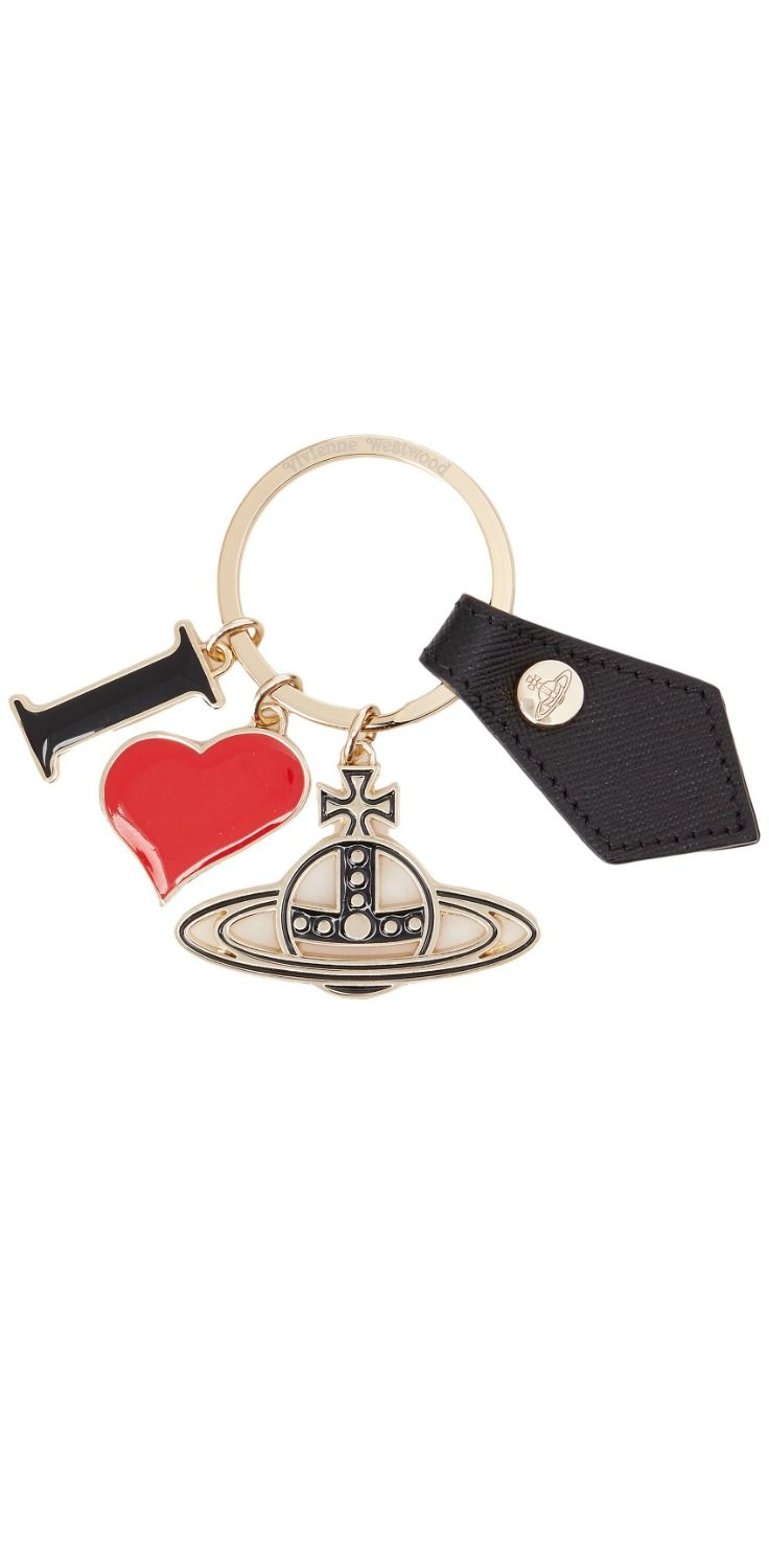 Orbit on a higher plane.  Unlock the door to a new reality with the cherished charm of the #VivienneWestwood I Love #Orb Gadget #Key #Ring. #keyring #keychain #keys #accessory #accessories